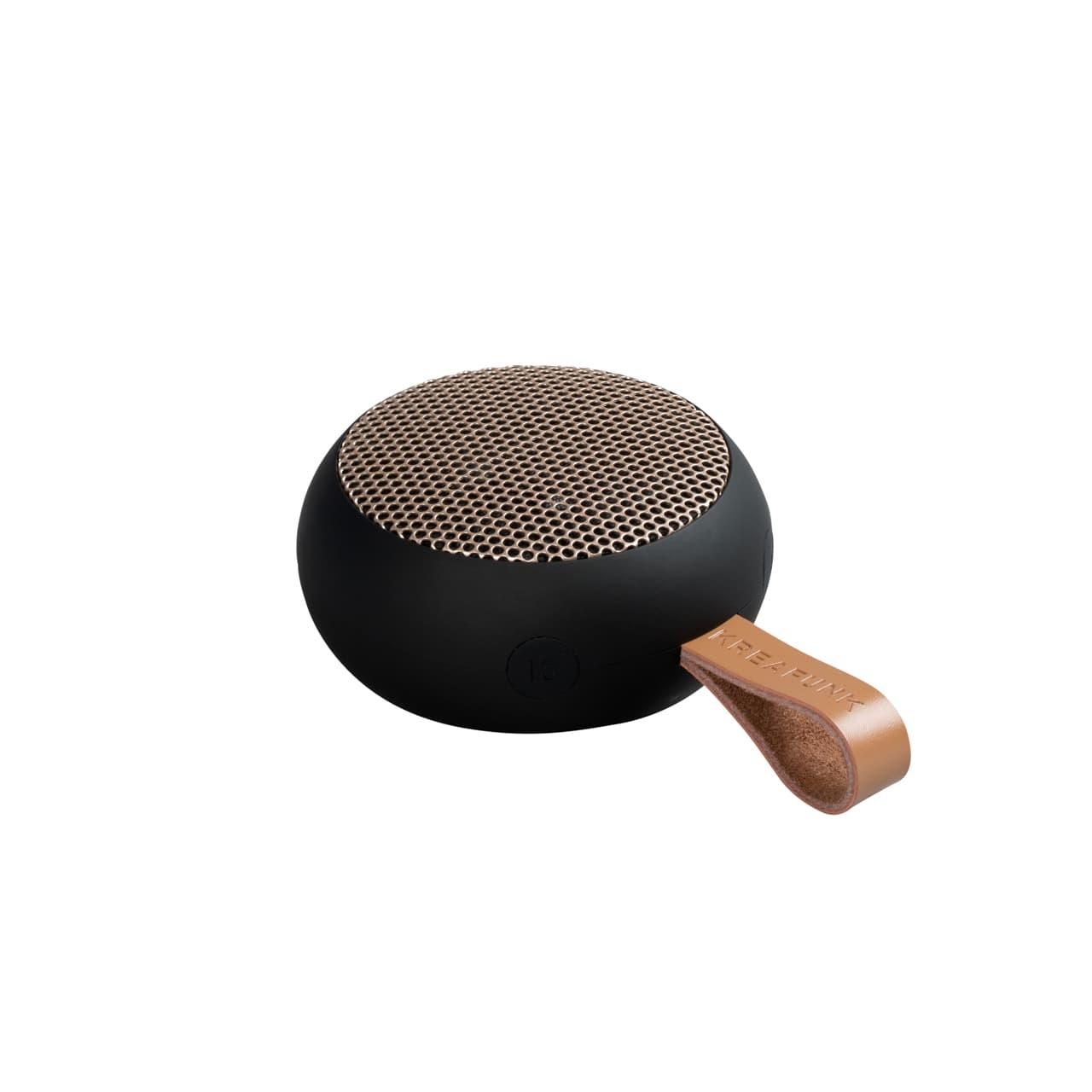 Kreafunk Kreafunk aGo bluetooth speaker Black - Gold