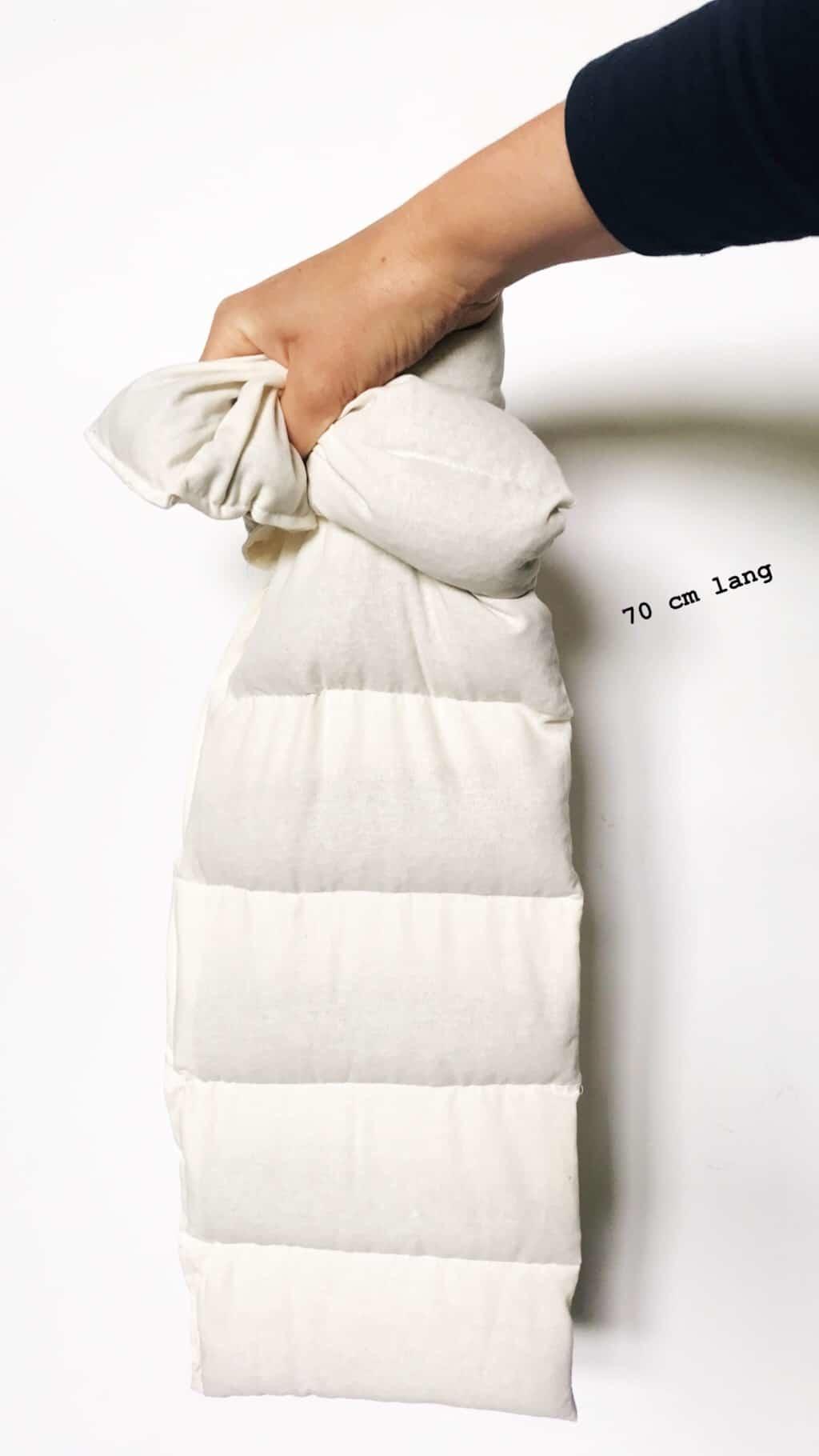 Janneke's warmtesjaal Janneke's Warmtesjaal 70 x 20 cm - lijnzaad donkergrijs