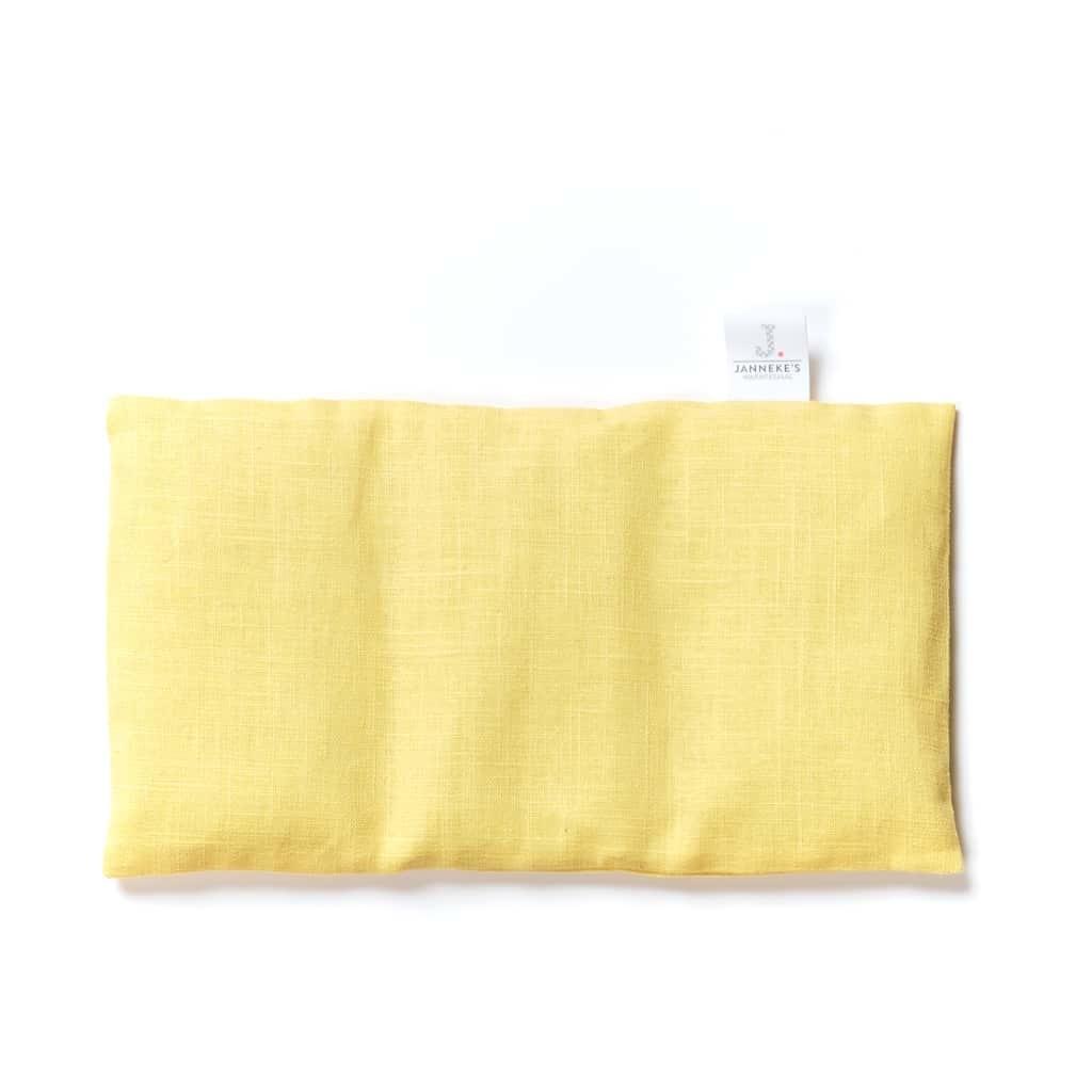 Janneke's warmtesjaal Janneke's Warmtesjaal linnen oogkussen geel