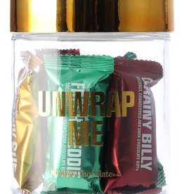 Simply Chocolate Simply Chocolate jar 11 bars  'Unwrap me'