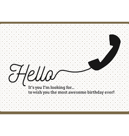 Enfant Terrible Enfant Terrible card + enveloppe 'hello, is it me you're looking for?'
