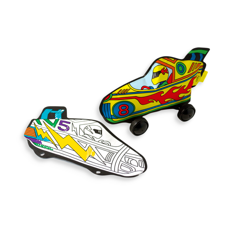 Ooly 3D Colorable race cars