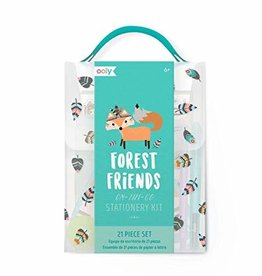 Ooly On-the-go stationary kit 'Forest friends'