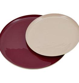 Liv Interior Tray set round rouge / mauve 22x30 cm