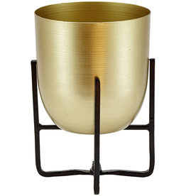 Liv Interior Planter brass finish with black stand 13x15 cm