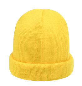 With love Beanie rainbow colors - yellow