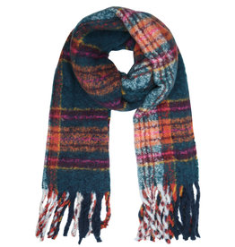 With love Scarf cosy winter petrol