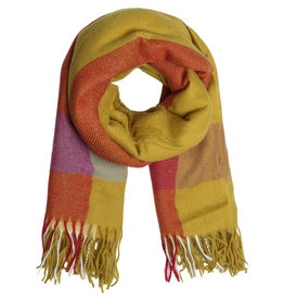 With love Scarf patterned yellow - red
