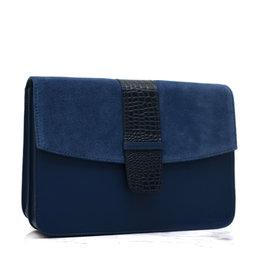Détail Bag Harmony blue croco