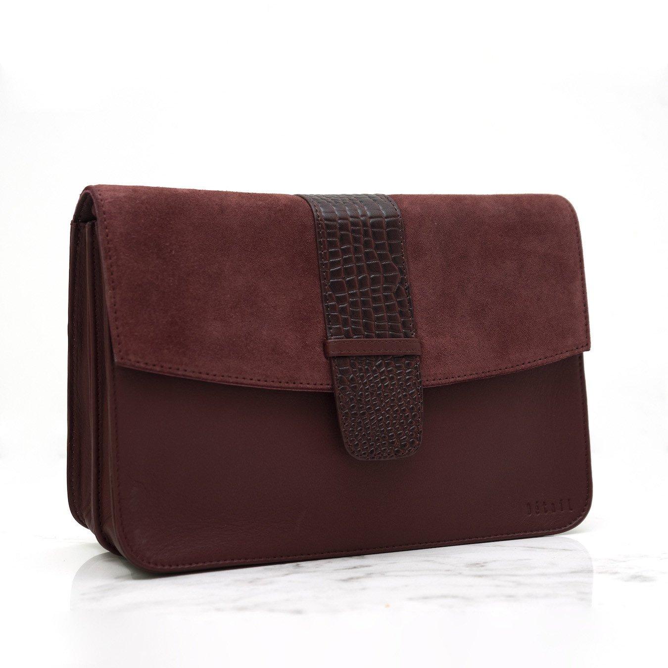 Détail Bag Harmony burgundy croco
