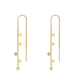 With love Earrings dangle - circles gold