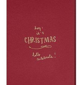 Papette Papette XMAS dark burgundy 'Hey, it's christmas'