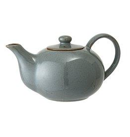 Bloomingville Pixie teapot green stoneware 14 x 12 cm