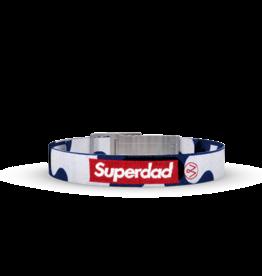 Wonderbuckle Wonderbuckle woven bracelet 'Superdad'