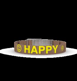 Wonderbuckle Wonderbuckle sillicone bracelet 'Happy'