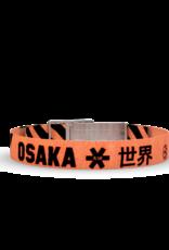 Wonderbuckle Wonderbuckle woven bracelet 'Osaka orange / black'