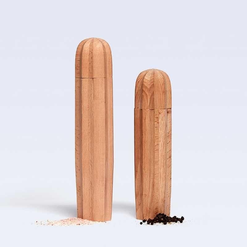 DOIY Cacti natural wood - salt & pepper set