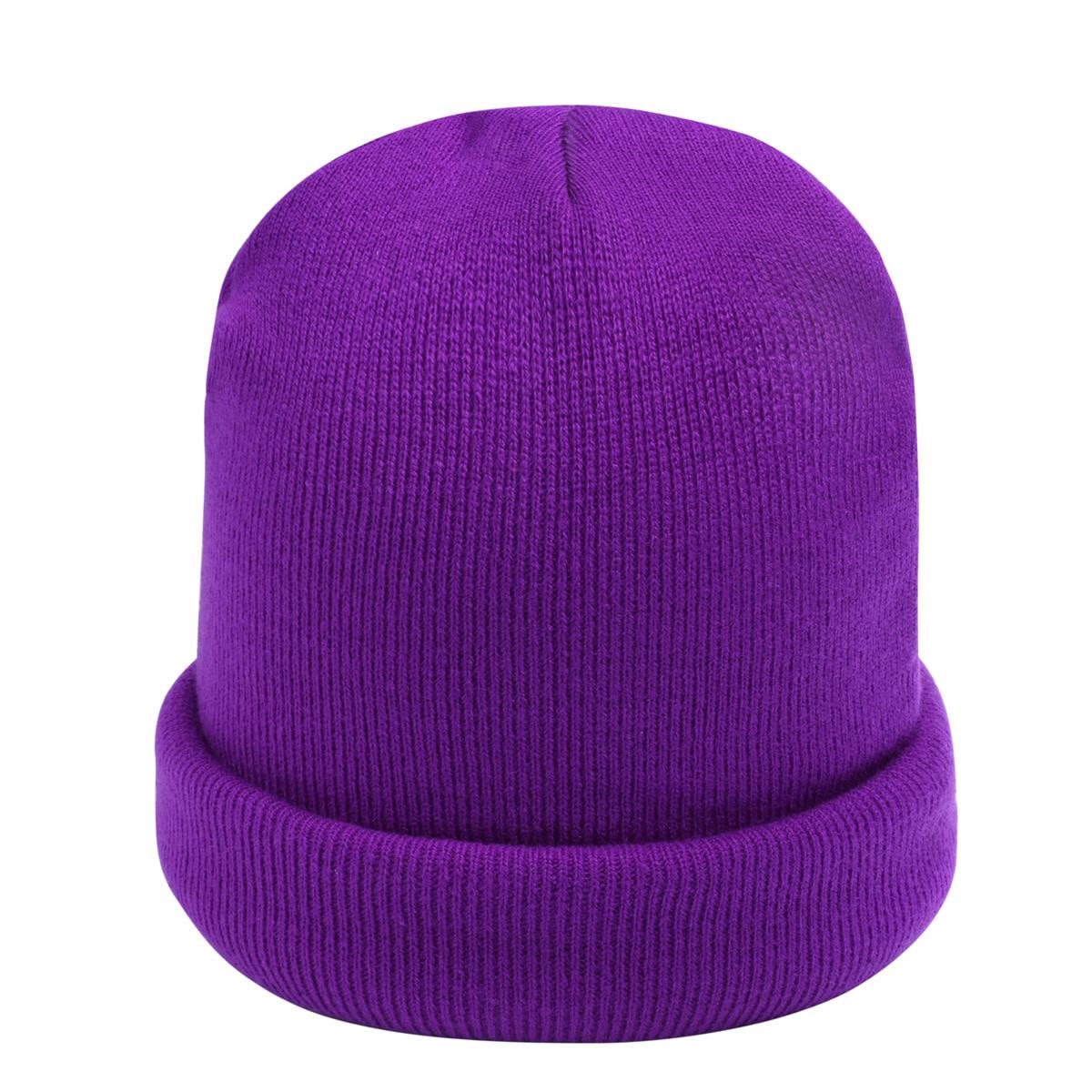 With love Beanie rainbow colors - purple