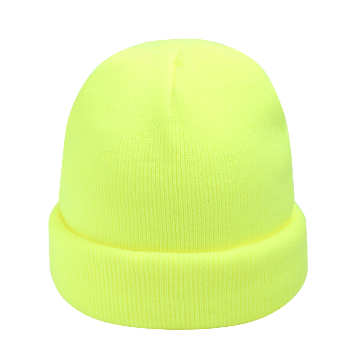 With love Beanie rainbow colors - neon yellow