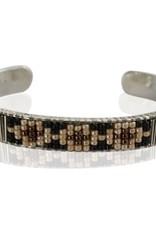 Bracelet Lea silver - black