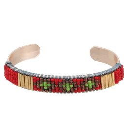 Casa de Chi Bracelet Lea gold - red