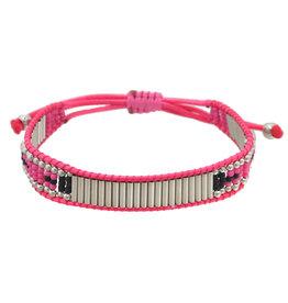 Casa de Chi Bracelet shiny beads  - pink