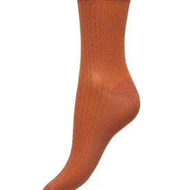 Beck Söndergaard Dina Glitz Russet Orange Socks 37/39