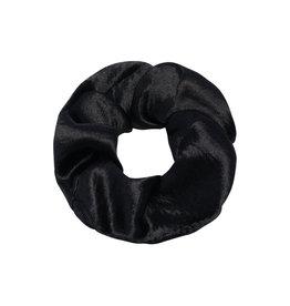 With love Scrunchie velvet - black