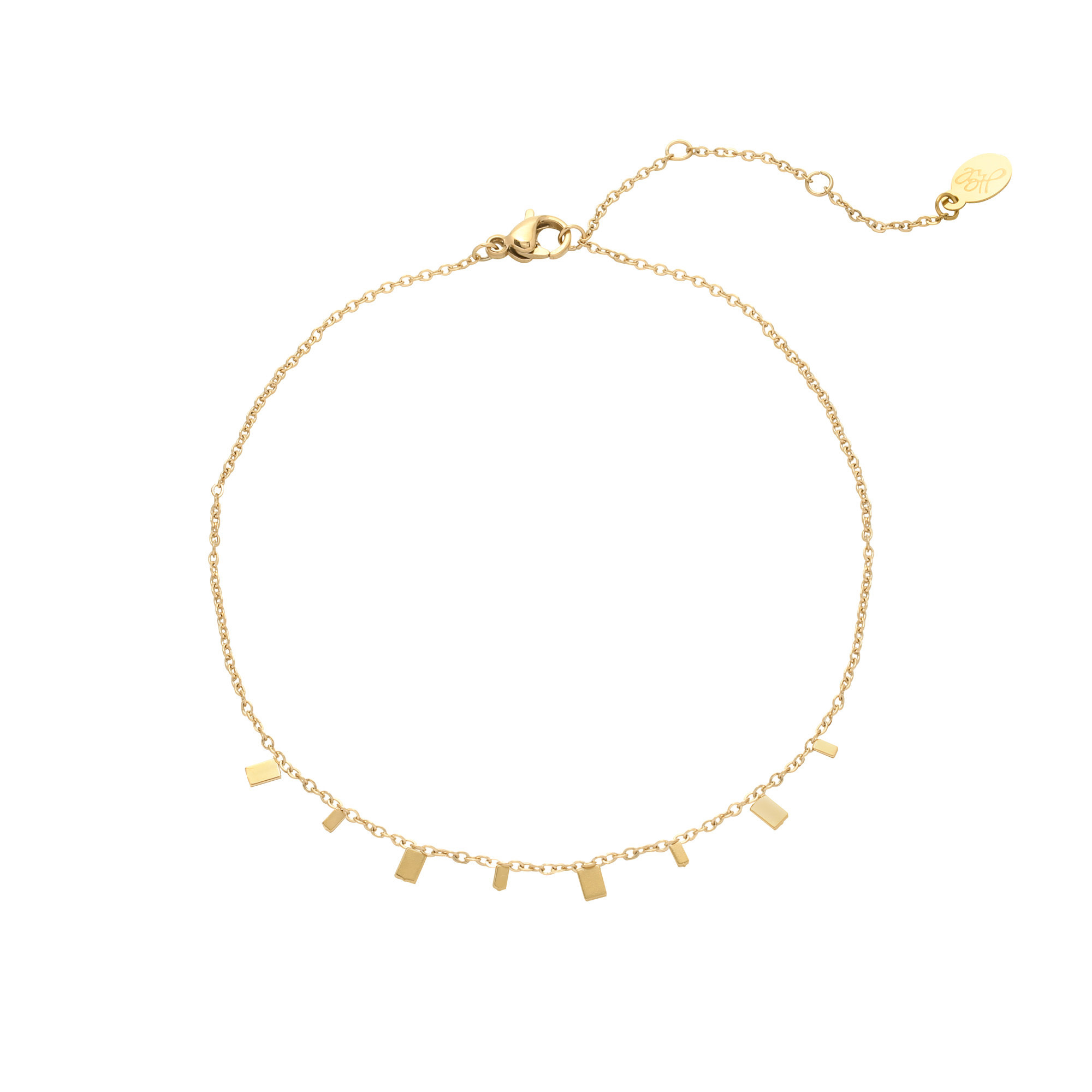 With love Bracelet rectangle confetti gold