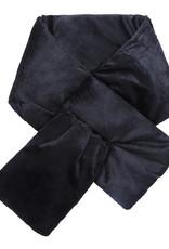 With love Scarf velvet puffer black 130 x 15 cm