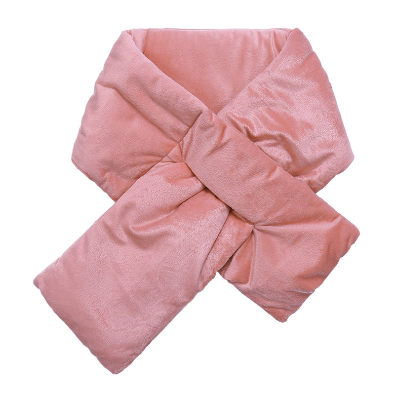 With love Scarf velvet puffer pink 130 x 15 cm