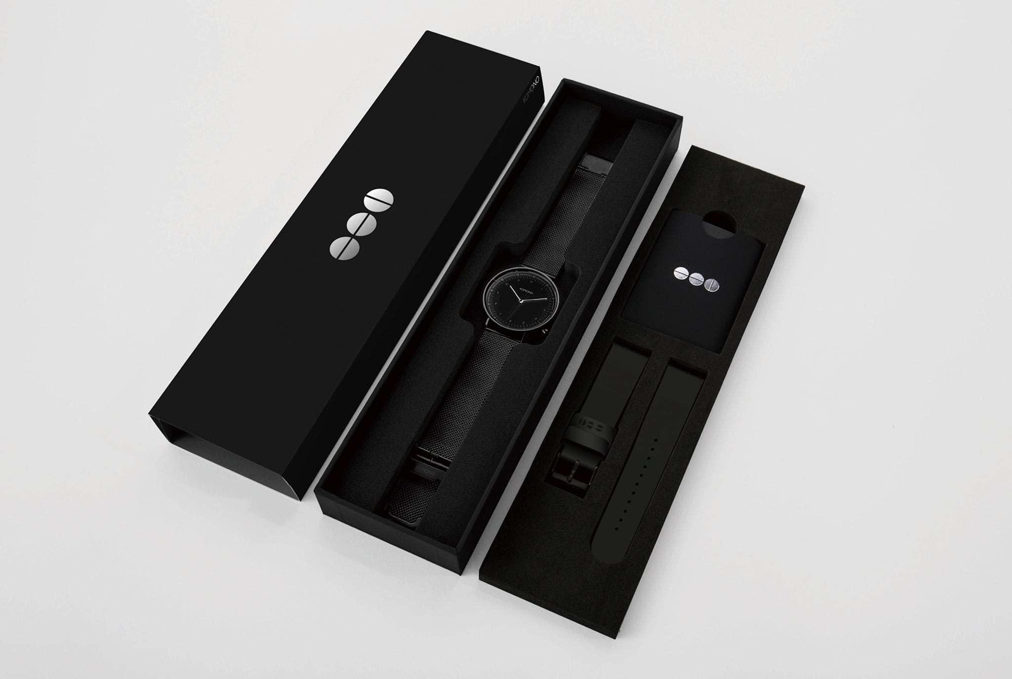 Komono Komono Lewis gun mesh + black strap gift set
