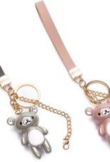 Zebra Zebra keychain bear pink