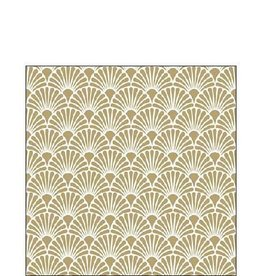 Ambiente Napkin 25x25 cm 'art deco gold - white' 20 pcs