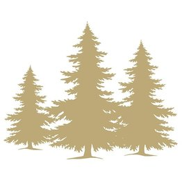 Ambiente 20 napkins 'Pine trees' gold 33x33 cm
