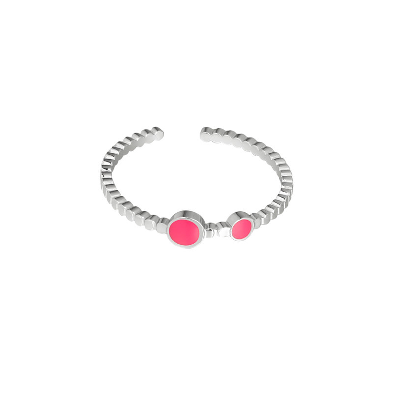 With love With Love ring - adorable color - silver pink