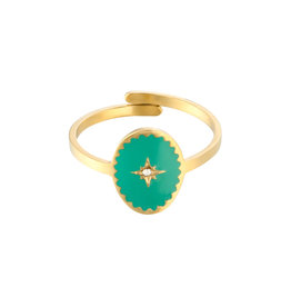 With love With Love ring - Lollipop gold green
