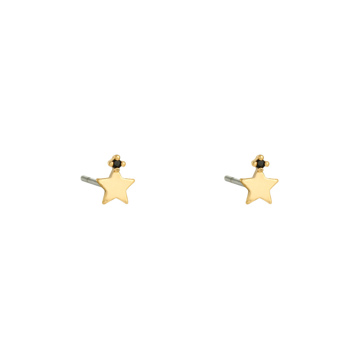 With love Earrings Little star gold