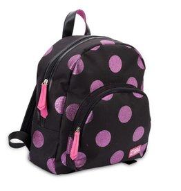 Zebra Zebra backpack glitter dots - Hotpink 30x25x11cm