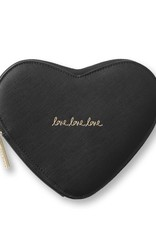 Katie Loxton Katie Loxton heart clutch black - 16 x 19 cm