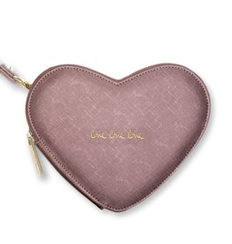 Katie Loxton Katie Loxton heart clutch love love love - rosé gold - 16 x 19 cm