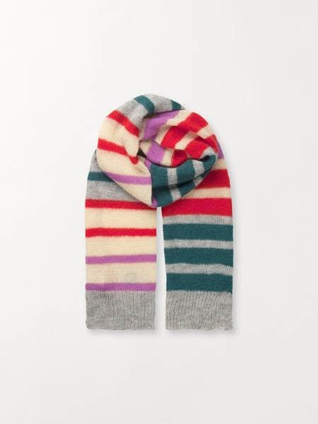 Beck Söndergaard Beck Sondergaard Gloria lovely stripes scarf - petrol 35 x 200 cm