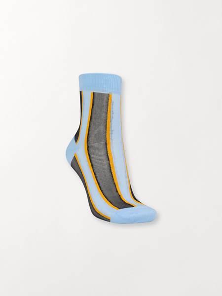 Beck Söndergaard Dagmar multi block socks light blue 39/41