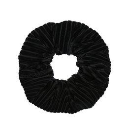 With love Scrunchie crushed velvet - black