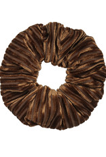 With love Scrunchie crushed velvet - brown
