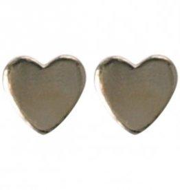 Treasure Earrings silver tiny heart GP