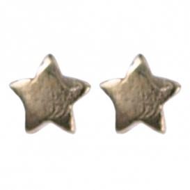 Treasure Silver stud earrings GP star 3.5 mm