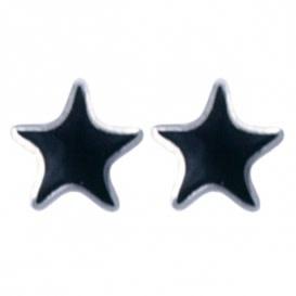 Treasure Silver stud earrings star 3.5 mm