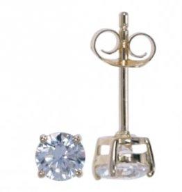 Treasure Silver stud earrings GP zikonia 3 mm