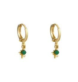With love Earrings miss charming gold green